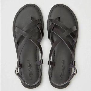 American Eagle Black Strappy Sandal